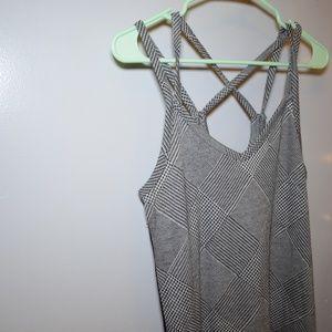 wild fable Dresses - Strappy XL  grey pattern dress w/ red stripe
